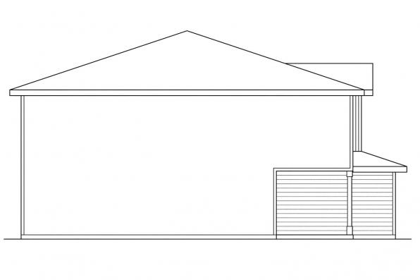 Craftsman House Plan - Toliver 60-020 - Right Elevation