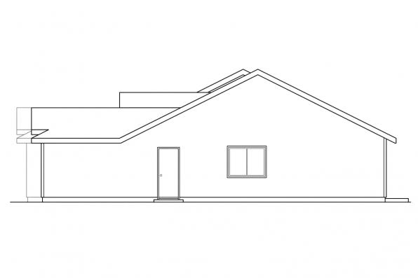 Craftsman House Plan - Torrington 60-010 - Left Elevation