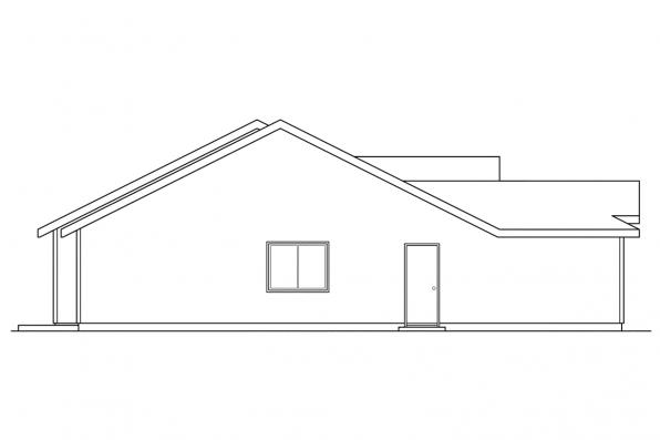 Craftsman House Plan - Torrington 60-010 - Right Elevation