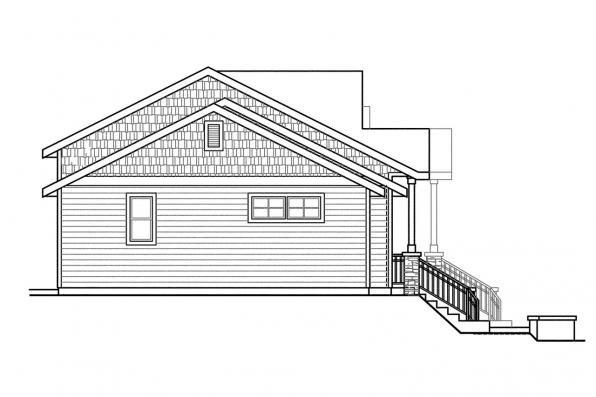 Craftsman House Plan - Vancouver 60-031 - Right Elevation