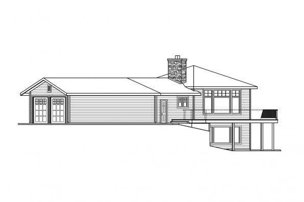 Craftsman House Plan - Viewcrest 10-536 - Left Elevation