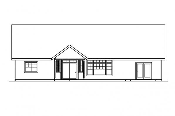 Designers Choice House Plan - Heartfield 30-400 - Rear Elevation