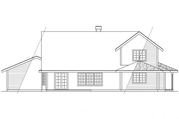 Designers Choice House Plan - Trinity 10-211 - Rear Elevation