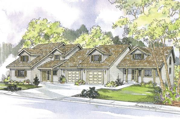 Duplex Plan - Carmichael 60-014 - Front Elevation