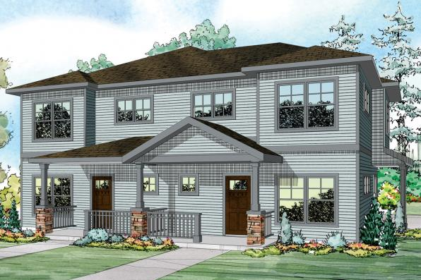 Duplex Plan - Parkridge 60-035 - Front Elevation