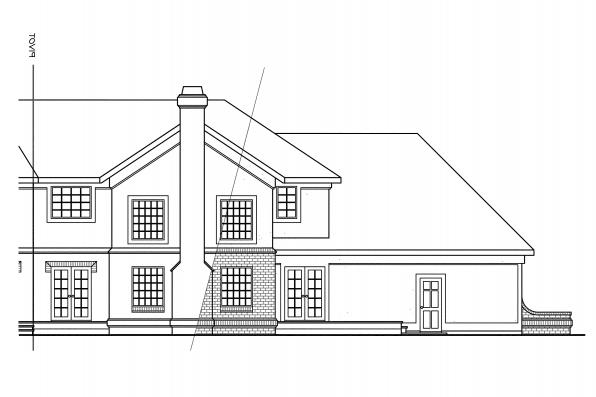 Estate Houe Plan - Cheshire 10-055 - Rear Elevation