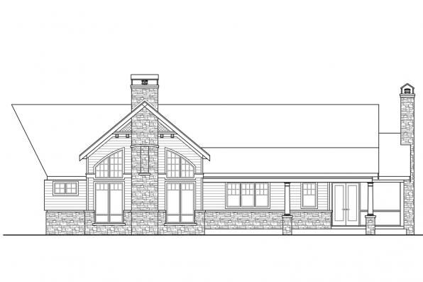 Estate House Plan - Nottingham 30-965 - Rear Elevation