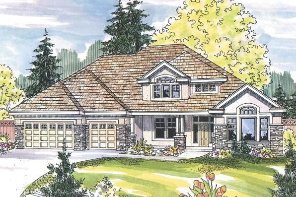 European House Plan - Balentine 30-340 - Front Elevation