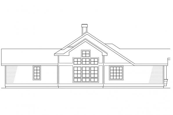European House Plan - Beaumont 10-052 - Right Elevation