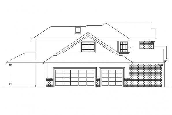 European House Plan - Bloomsburg 30-667 - Right Elevation
