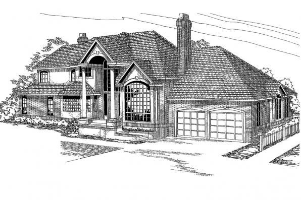 European House Plan - Brinton 30-178 - Front Elevation