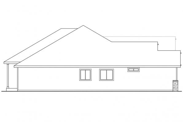 European House Plan - Cascadia 30-804 - Right Elevation