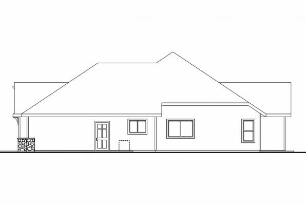 European House Plan - Dalneigh 30-709 - Left Elevation