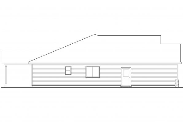 European House Plan - Eastford 30-925 - Right Elevation