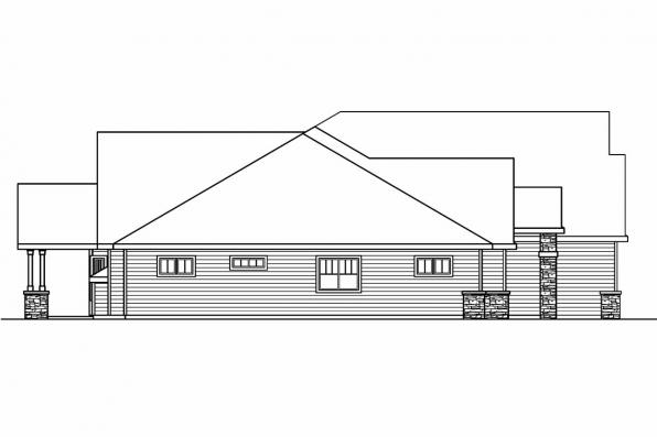 European House Plan - Elkheart 30-645 - Right Elevation