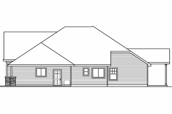 European House Plan - Innsbrook 30-689 - Left Elevation