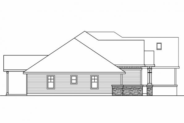 European House Plan - Innsbrook 30-689 - Right Elevation
