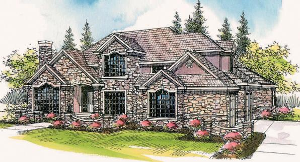 European House Plan - Macleod 30-120 - Front Elevation