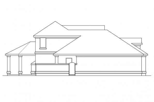 European House Plan - Providence 10-305 - Right Elevation
