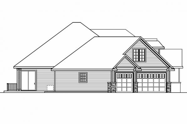 European House Plan - Ramsbury 30-585 - Left Elevation