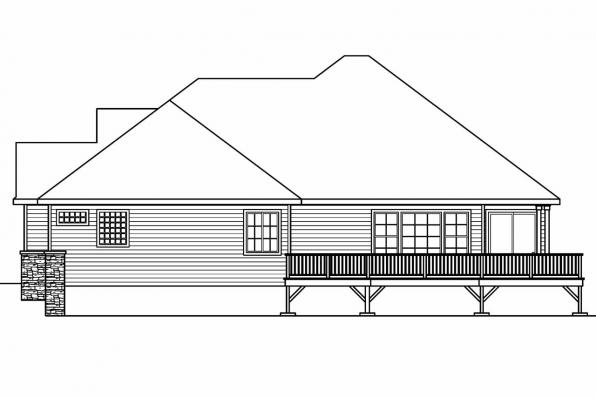 European House Plan - Ramsbury 30-585 - Right Elevation