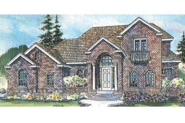 European House Plan - Reynolds 30-396 - Front Elevation