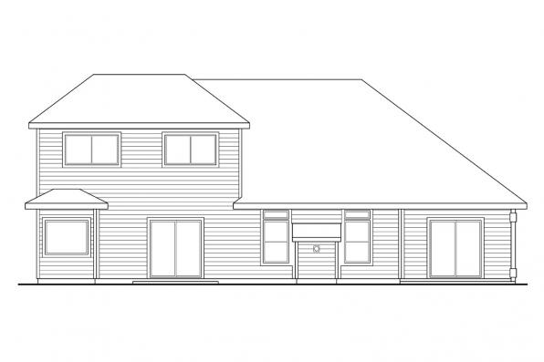 European House Plan - Strasbourg 30-146 - Rear Elevation