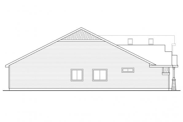 European House Plan - Sutherlin 30-812 - Right Elevation