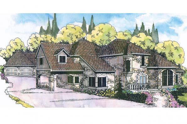European House Plan - Wilshire 10-031 - Front Elevation