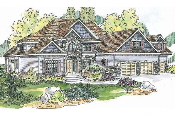 European House Plan - Yorkshire 30-505 - Front Elevation