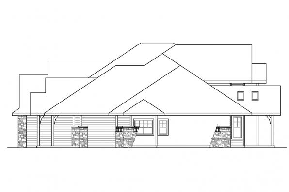 European House Plan - Cedar Creek 30-916 - Left Elevation
