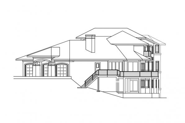 Florida House Plan - Belle Vista 30-274 - Left Elevation