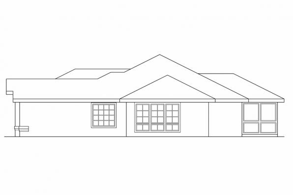 Florida House Plan - Calabro 11-083 - Left Elevation