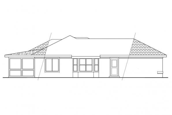 Florida House Plan - Camille 11-031 - Right Elevation