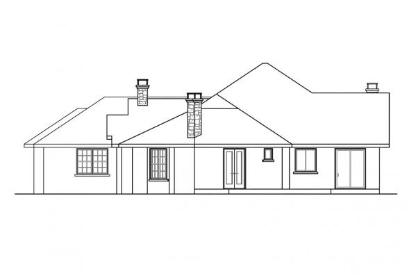 Florida House Plan - Hillcrest 10-557 - Left Elevation