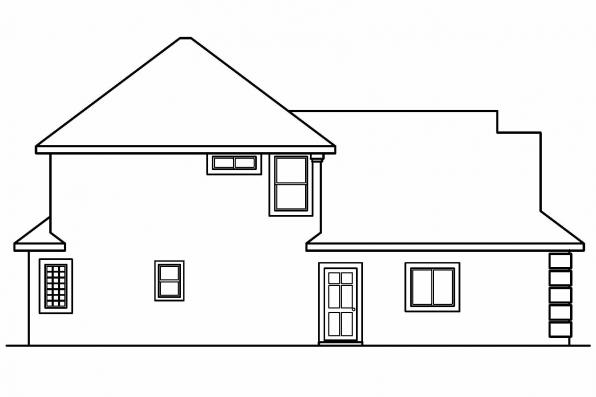 Florida House Plan - Mansura 30-188 - Right Elevation