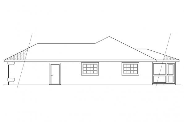 Florida House Plan - Navarro 11-061 - Left Elevation