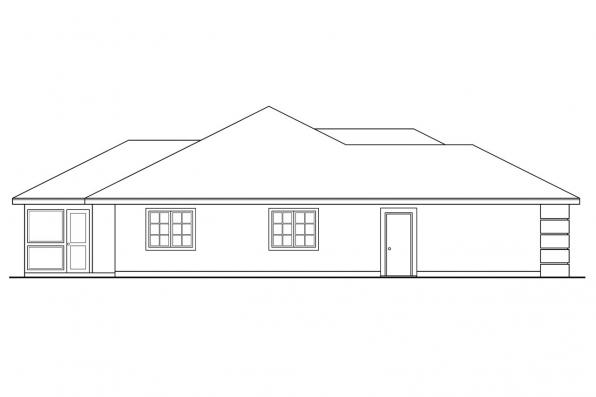 Florida House Plan - Pereza 11-075 - Right Elevation