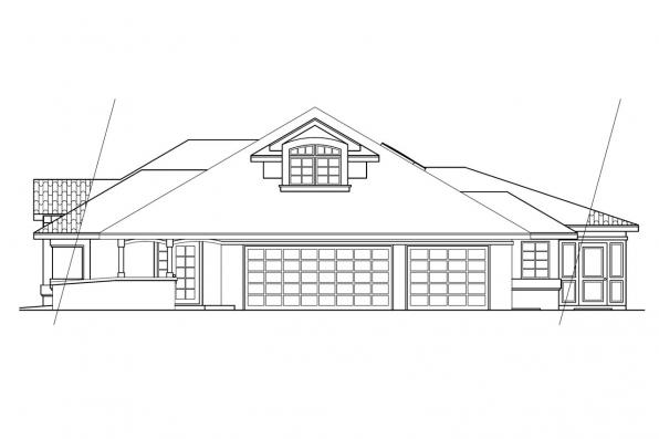 Florida House Plan - Santa Maria 11-033 - Left Elevation