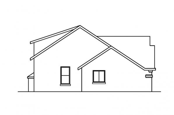 Florida House Plan - Siena 30-186 - Right Elevation