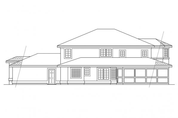 Florida House Plan - Southaven 11-038 - Left Elevation