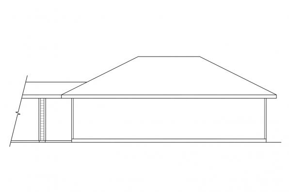 Garage Design 20-011 - Rear Elevation