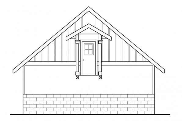 Garage Design 20-013 - Rear Elevation