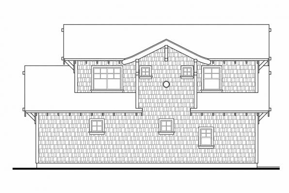 Garage Design 20-052 - Rear Elevation