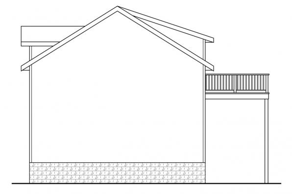 Garage Design 20-063 - Rear Elevation