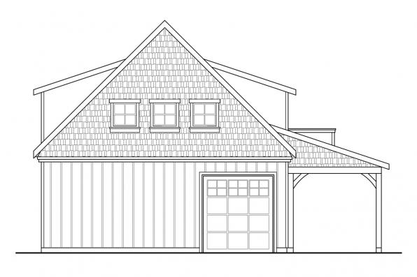 Garage Plan 20-099 - Rear Elevation