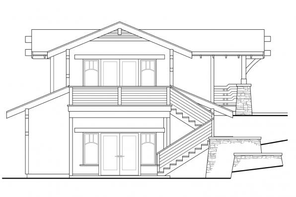 Garage Design 20-115 - Rear Elevation