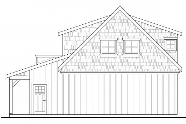 Garage Design 20-119 - Rear Elevation