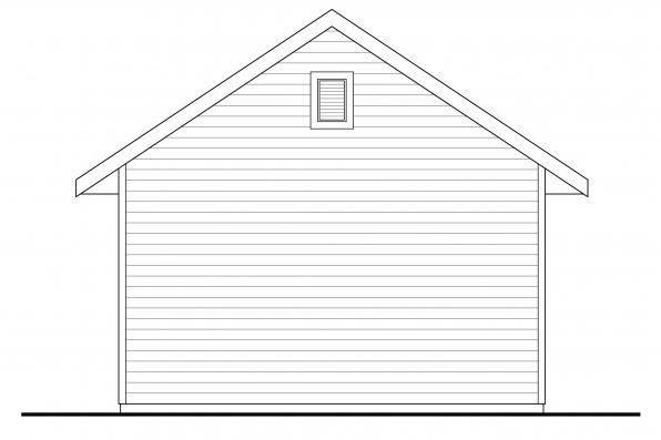 Garage Design 20-135 - Rear Elevation