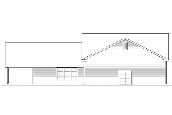 Garage Design 20-166 - Rear Elevation